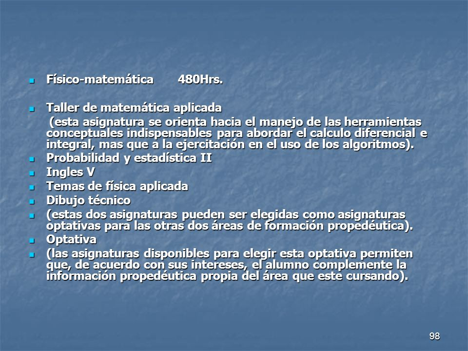 Físico-matemática 480Hrs.