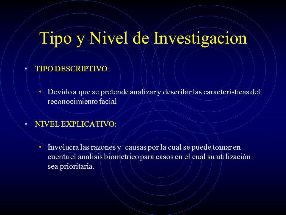 Tipo y Nivel de Investigacion