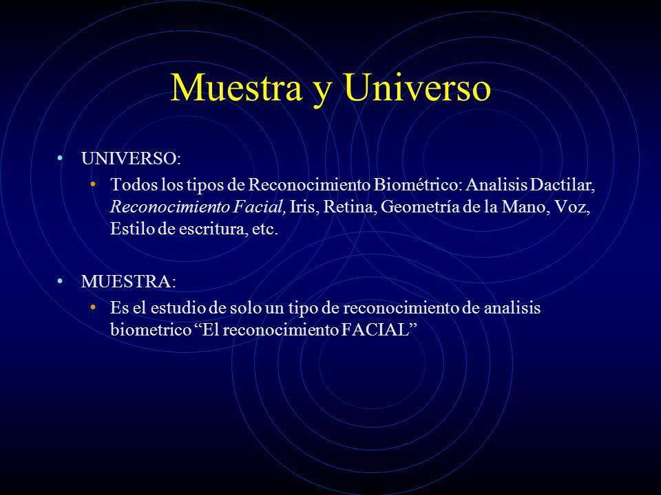 Muestra y Universo UNIVERSO: