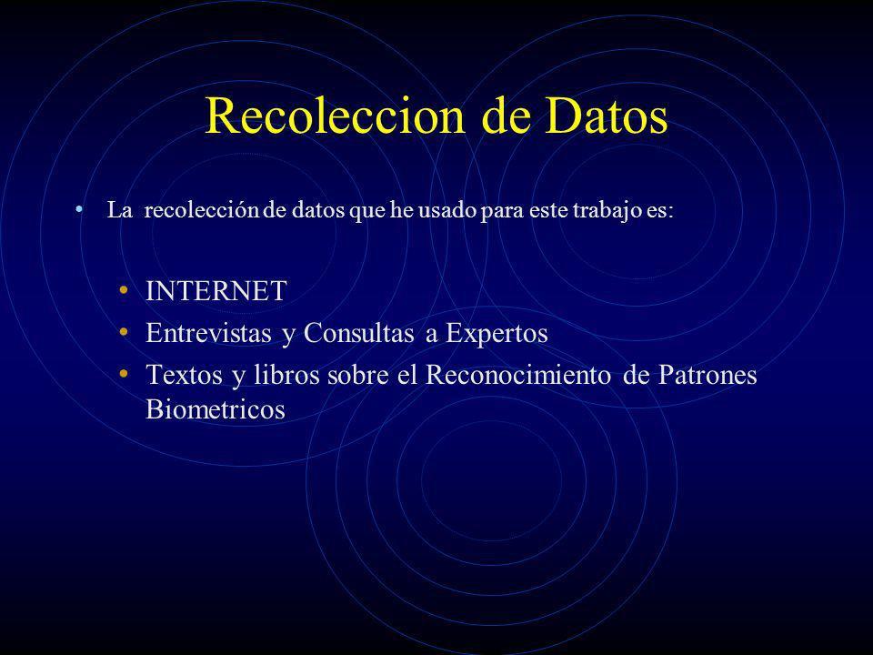 Recoleccion de Datos INTERNET Entrevistas y Consultas a Expertos