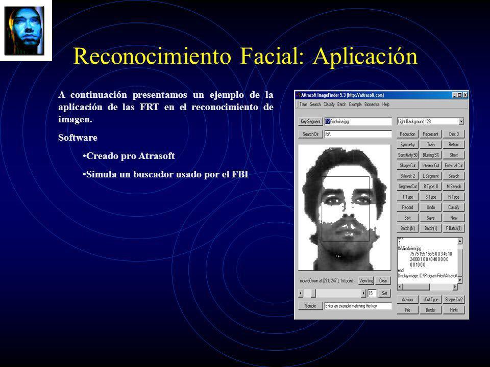 Reconocimiento Facial: Aplicación