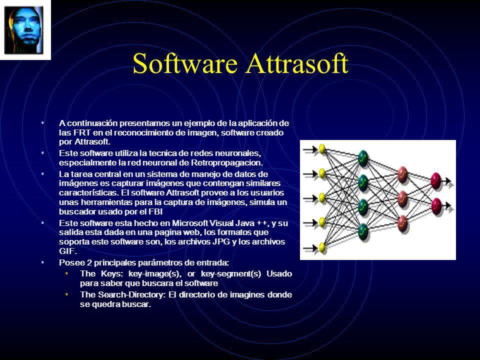 Software Attrasoft A continuación presentamos un ejemplo de la aplicación de las FRT en el reconocimiento de imagen, software creado por Attrasoft.