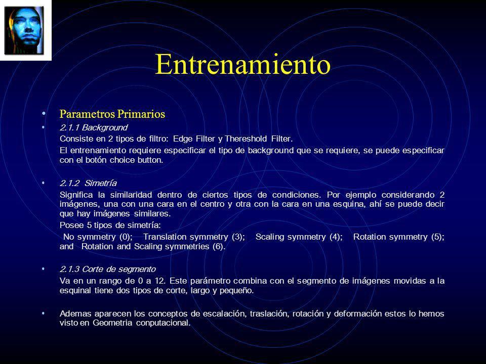Entrenamiento Parametros Primarios 2.1.1 Background
