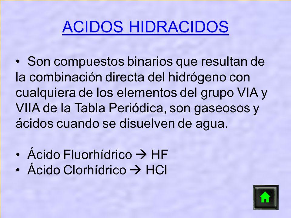 ACIDOS HIDRACIDOS