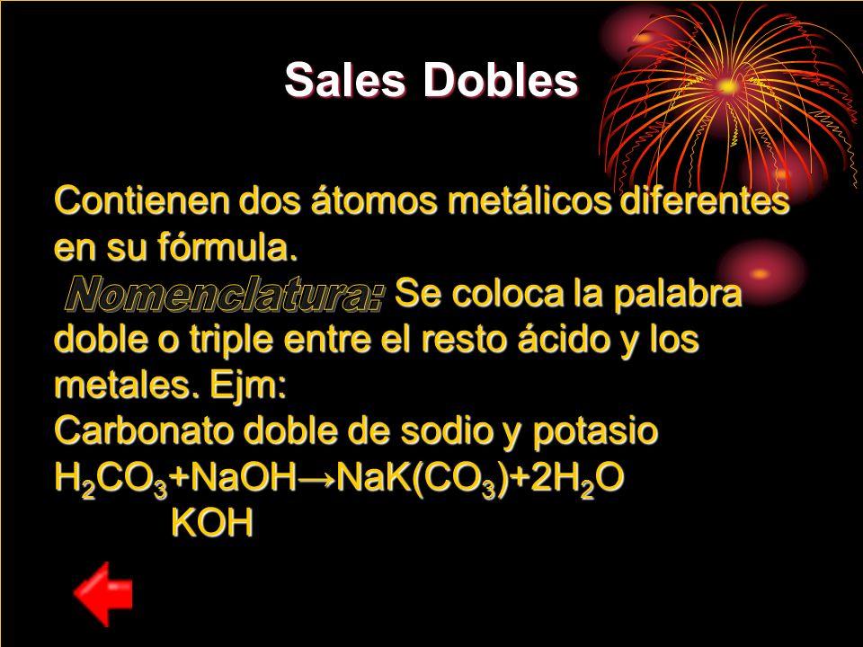 Sales Dobles Nomenclatura: