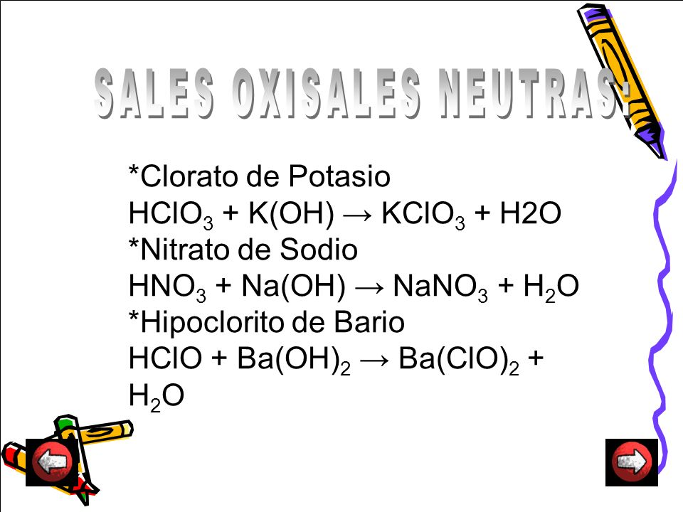 SALES OXISALES NEUTRAS: