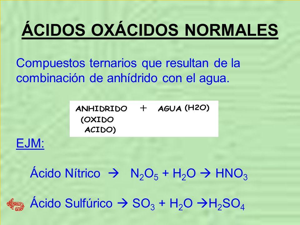ÁCIDOS OXÁCIDOS NORMALES