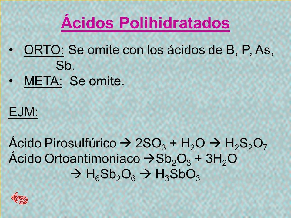 Ácidos Polihidratados