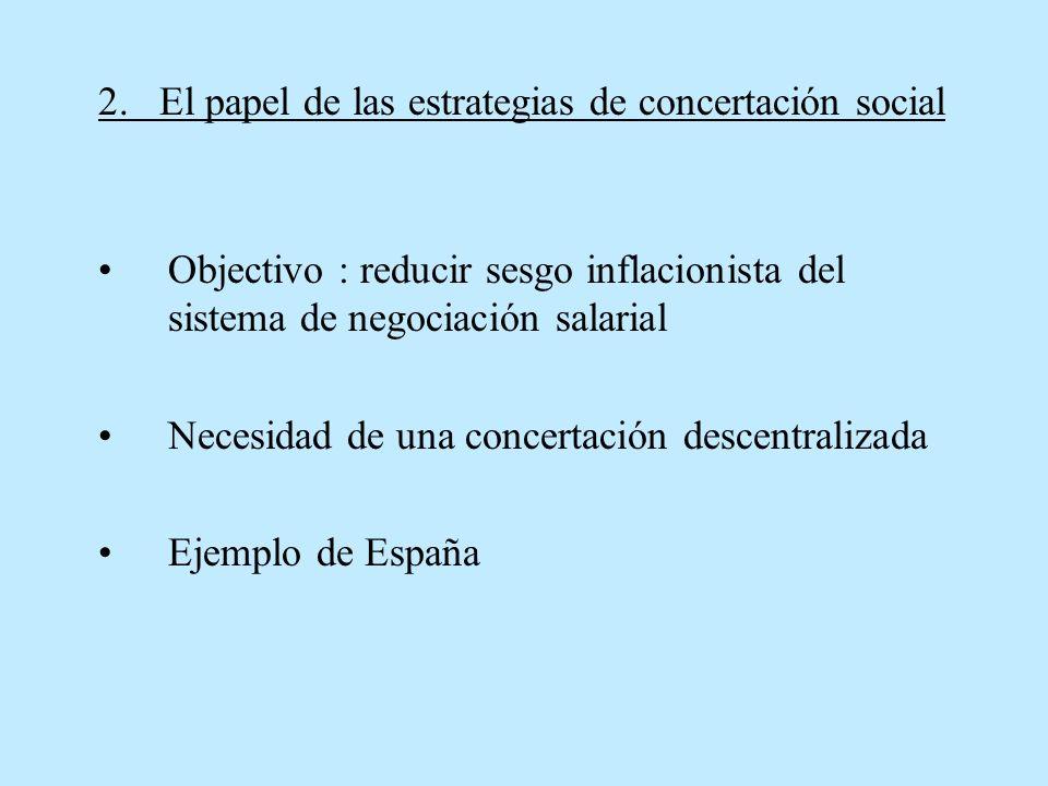 2. El papel de las estrategias de concertación social