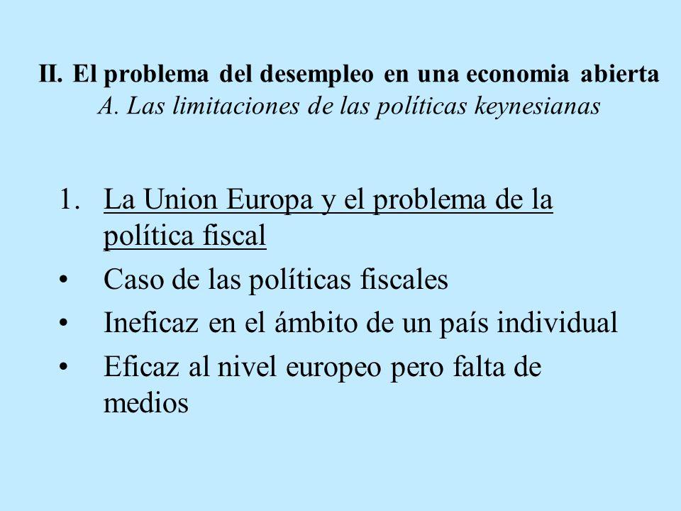 La Union Europa y el problema de la política fiscal