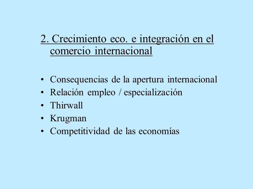 2. Crecimiento eco. e integración en el comercio internacional