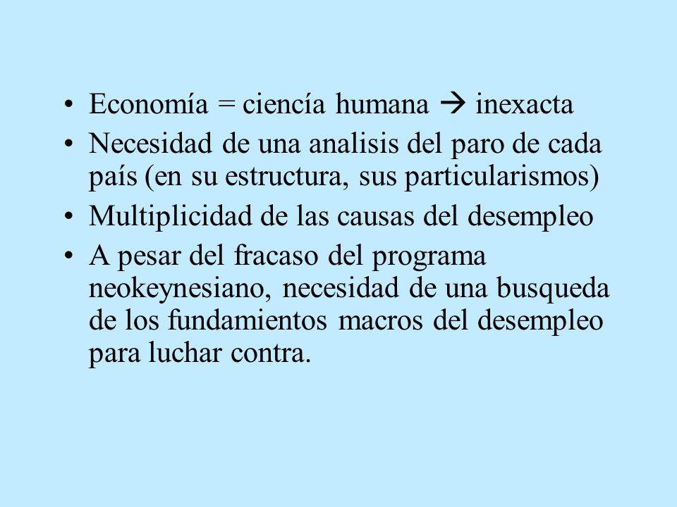 Economía = ciencía humana  inexacta