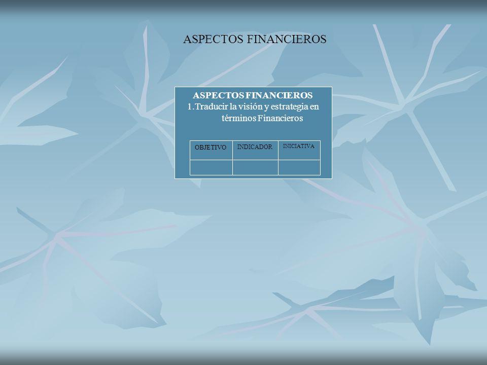 1.Traducir la visión y estrategia en términos Financieros