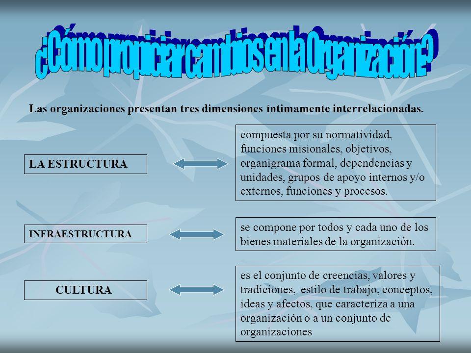 ¿Cómo propiciar cambios en la Organización