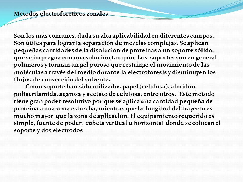Métodos electroforéticos zonales.