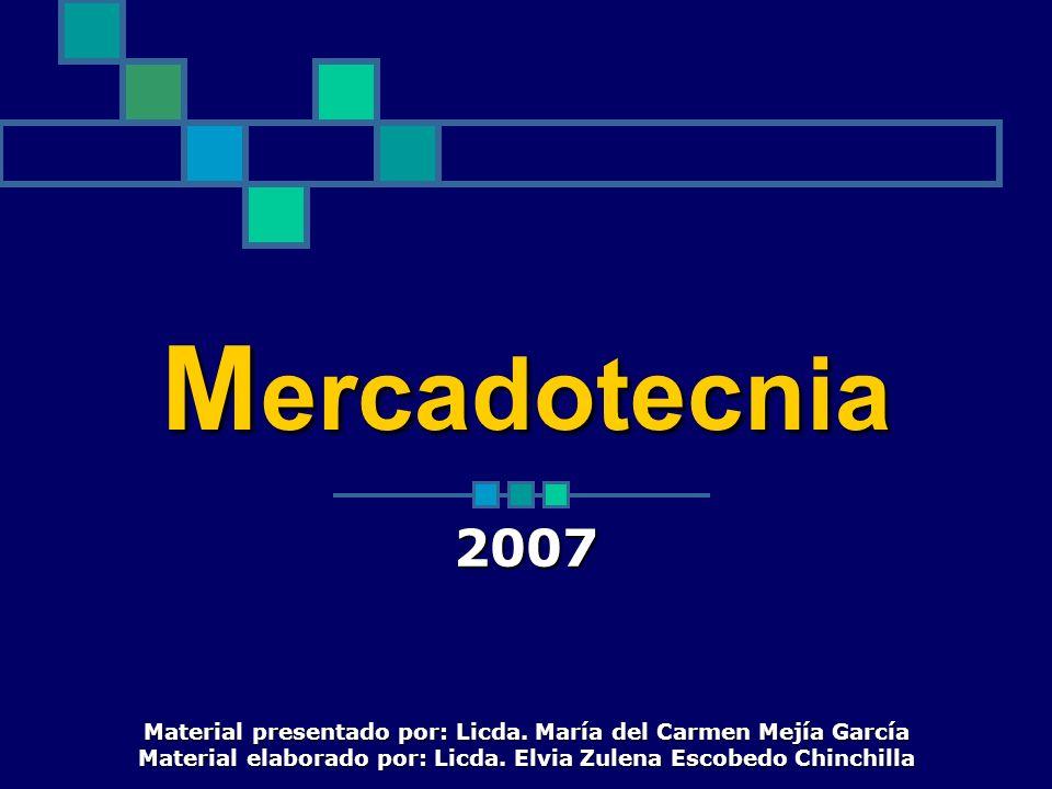 Mercadotecnia 2007. Material presentado por: Licda.