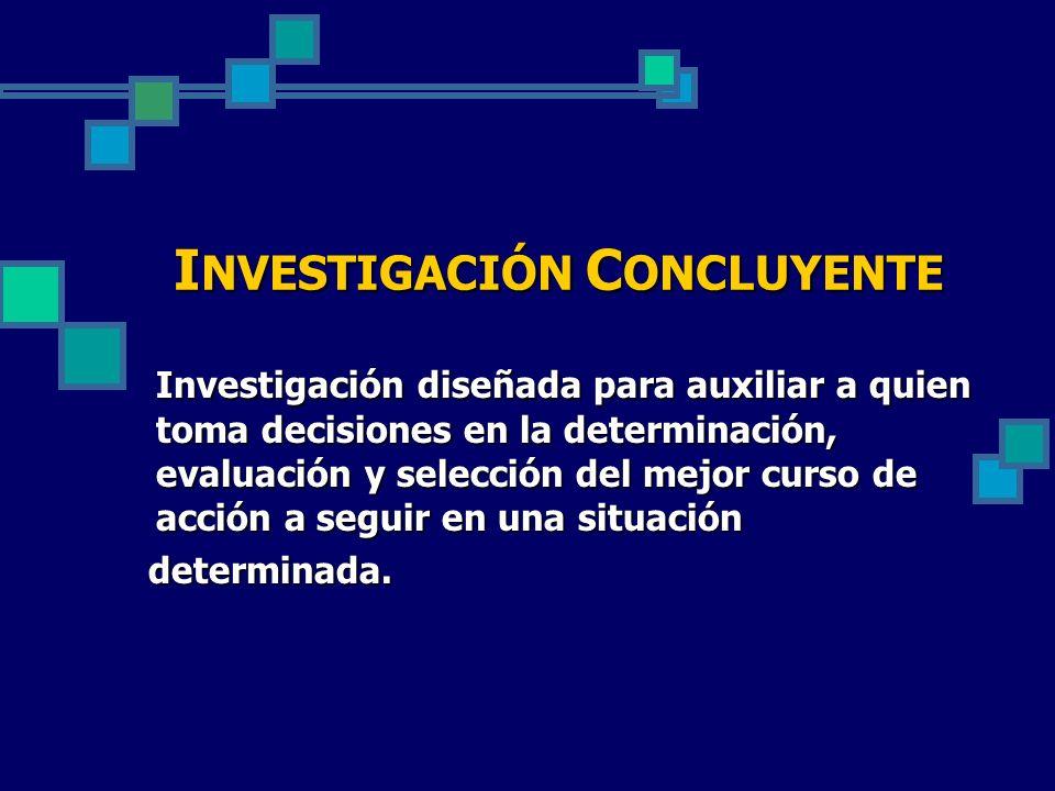 INVESTIGACIÓN CONCLUYENTE