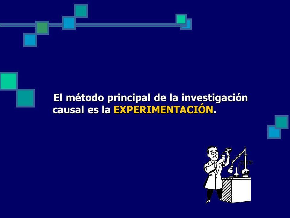 El método principal de la investigación causal es la EXPERIMENTACIÓN.