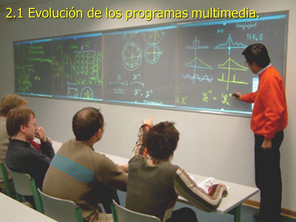 2.1 Evolución de los programas multimedia.