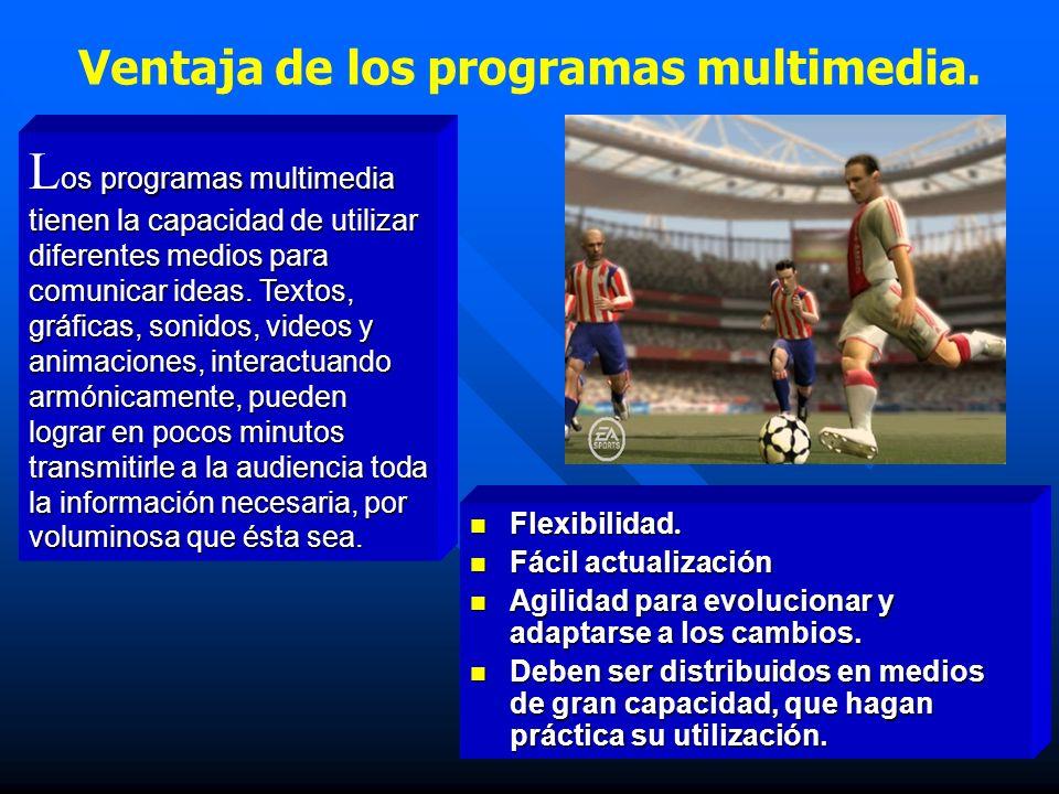 Ventaja de los programas multimedia.