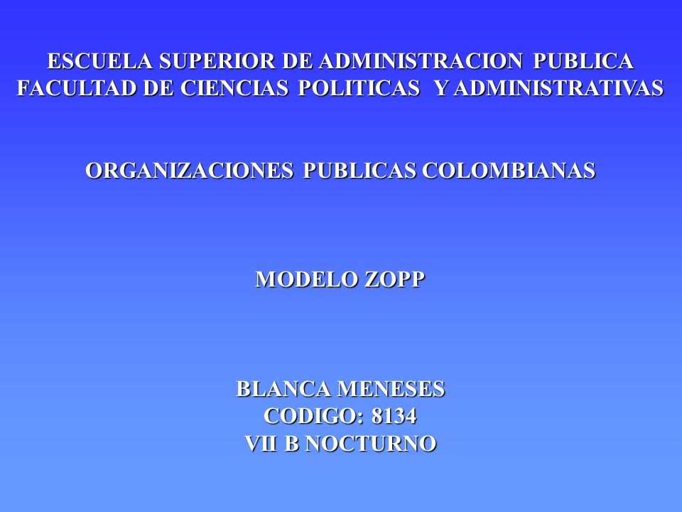 ESCUELA SUPERIOR DE ADMINISTRACION PUBLICA