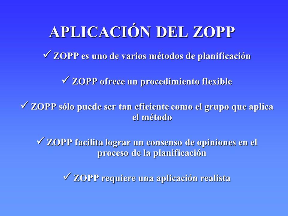 ZOPP es uno de varios métodos de planificación