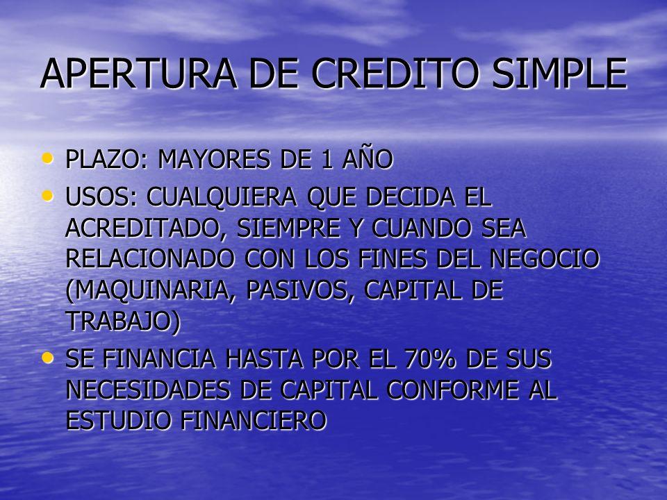 APERTURA DE CREDITO SIMPLE