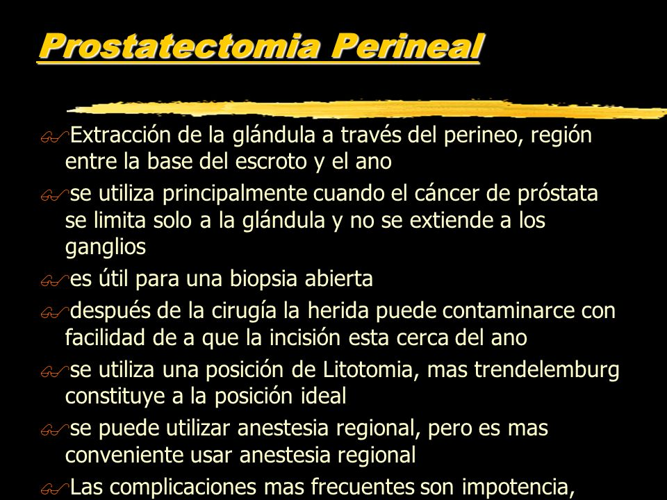 Prostatectomia Perineal