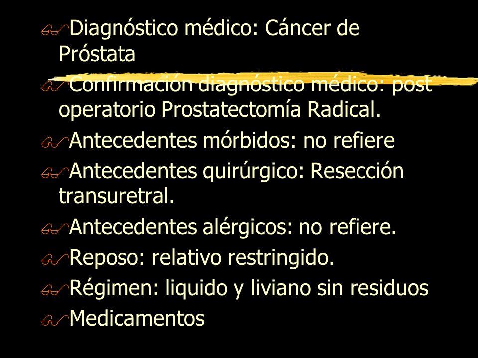 Diagnóstico médico: Cáncer de Próstata