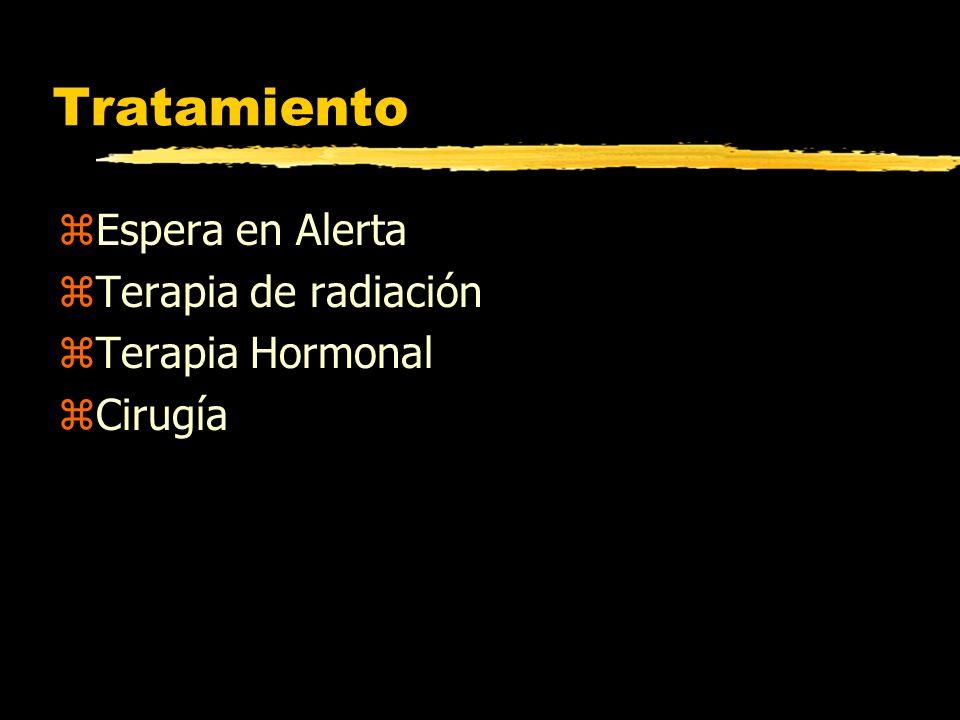 Tratamiento Espera en Alerta Terapia de radiación Terapia Hormonal