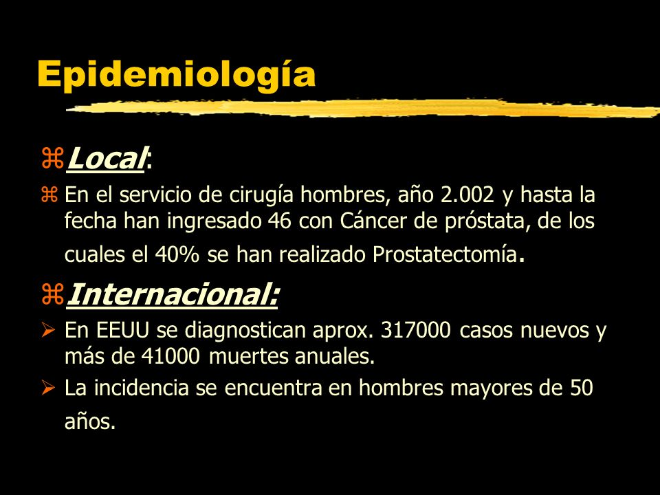 Epidemiología Local: Internacional: