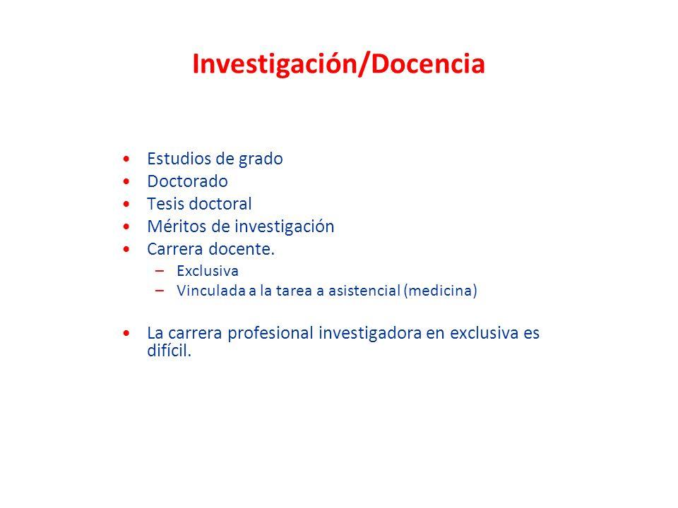 Investigación/Docencia