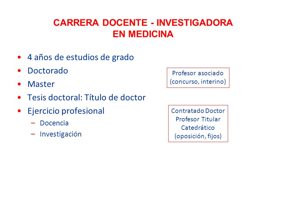 CARRERA DOCENTE - INVESTIGADORA