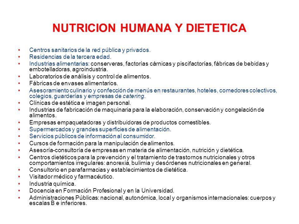 NUTRICION HUMANA Y DIETETICA