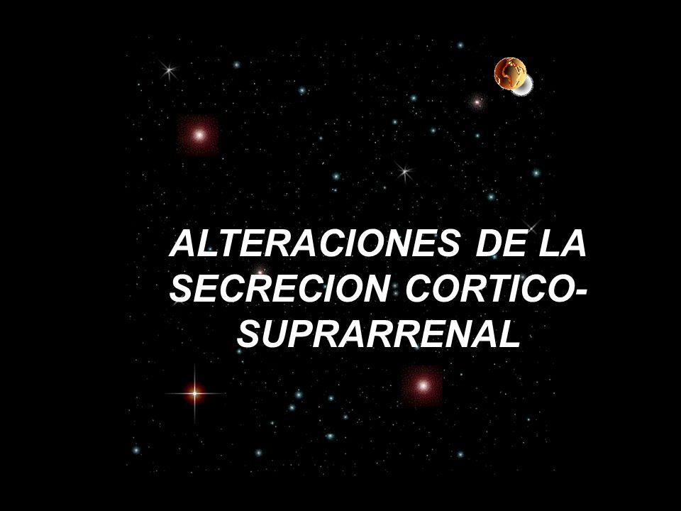 ALTERACIONES DE LA SECRECION CORTICO-SUPRARRENAL