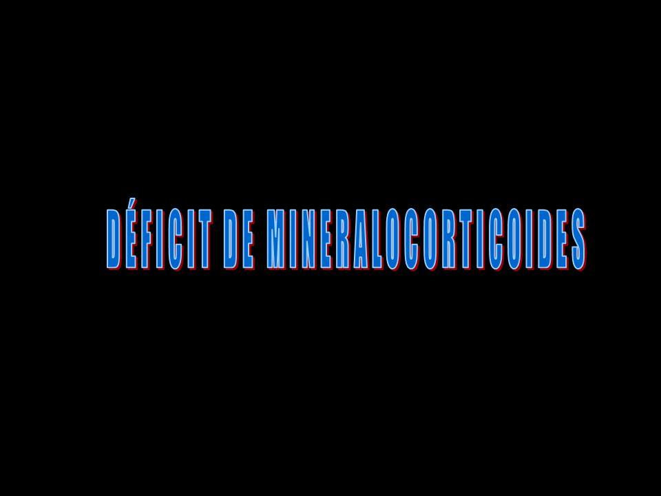 DÉFICIT DE MINERALOCORTICOIDES