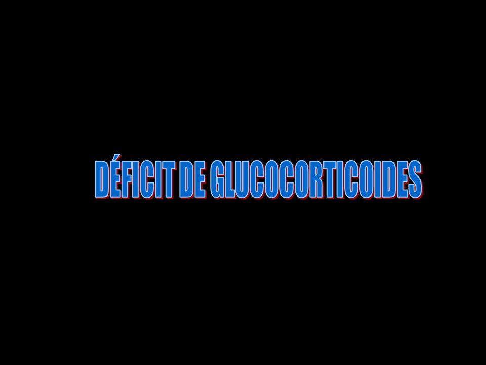 DÉFICIT DE GLUCOCORTICOIDES