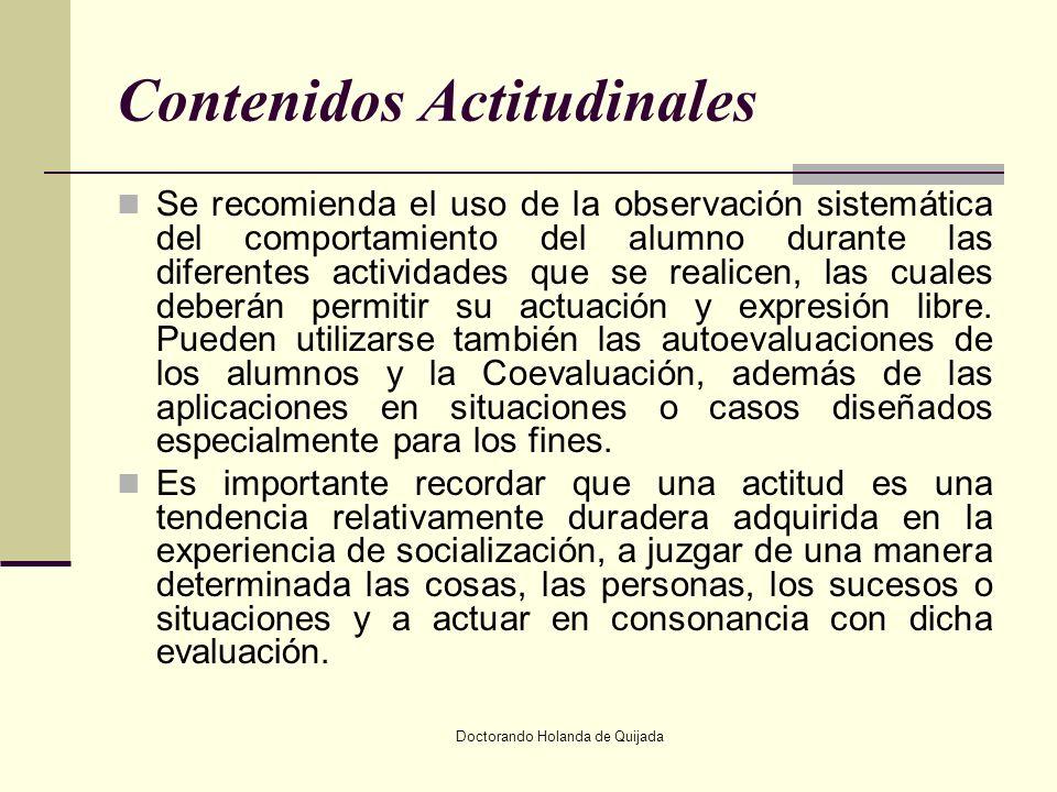 Contenidos Actitudinales