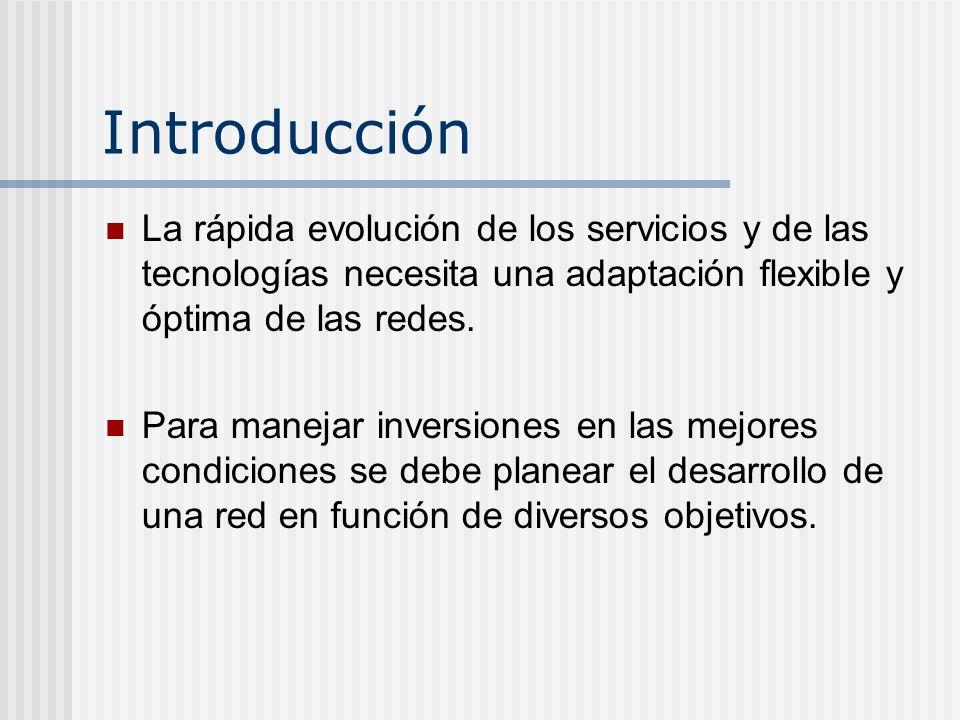 Introducción La rápida evolución de los servicios y de las tecnologías necesita una adaptación flexible y óptima de las redes.