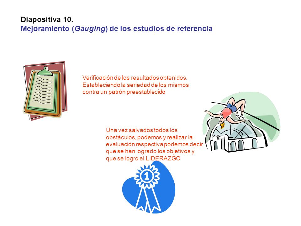 Mejoramiento (Gauging) de los estudios de referencia