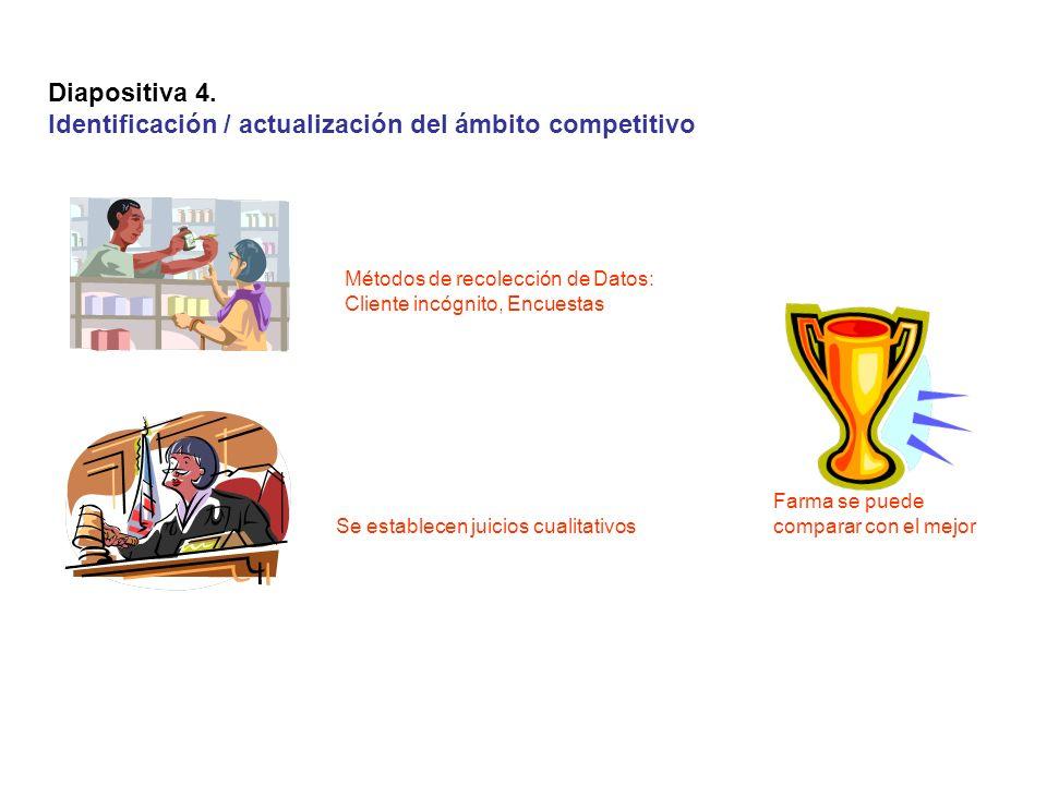 Identificación / actualización del ámbito competitivo