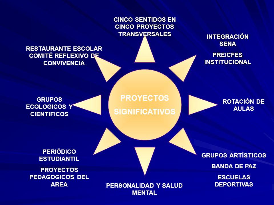 CINCO SENTIDOS EN CINCO PROYECTOS TRANSVERSALES PREICFES INSTITUCIONAL