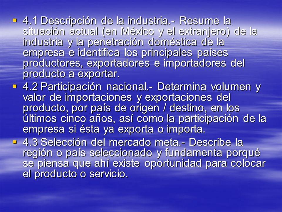 4. 1. Descripción de la industria
