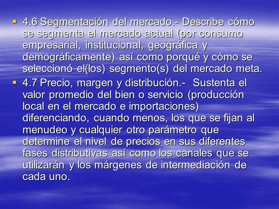 4. 6. Segmentación del mercado