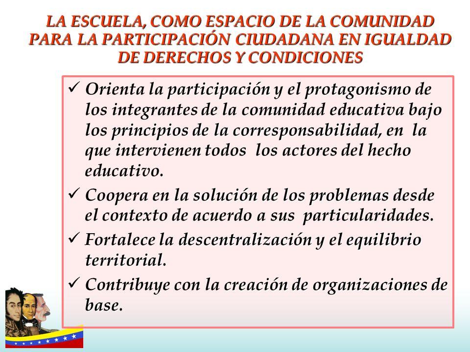 Fortalece la descentralización y el equilibrio territorial.