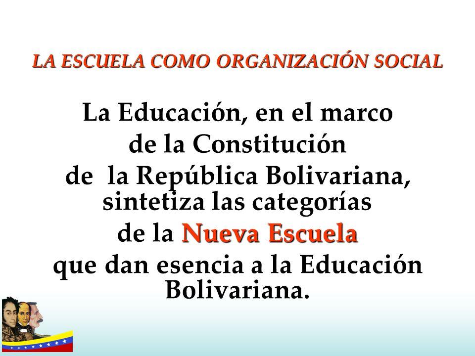 La Educación, en el marco de la Constitución