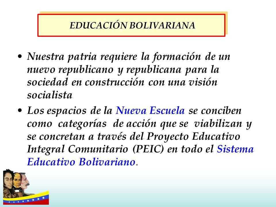 EDUCACIÓN BOLIVARIANA