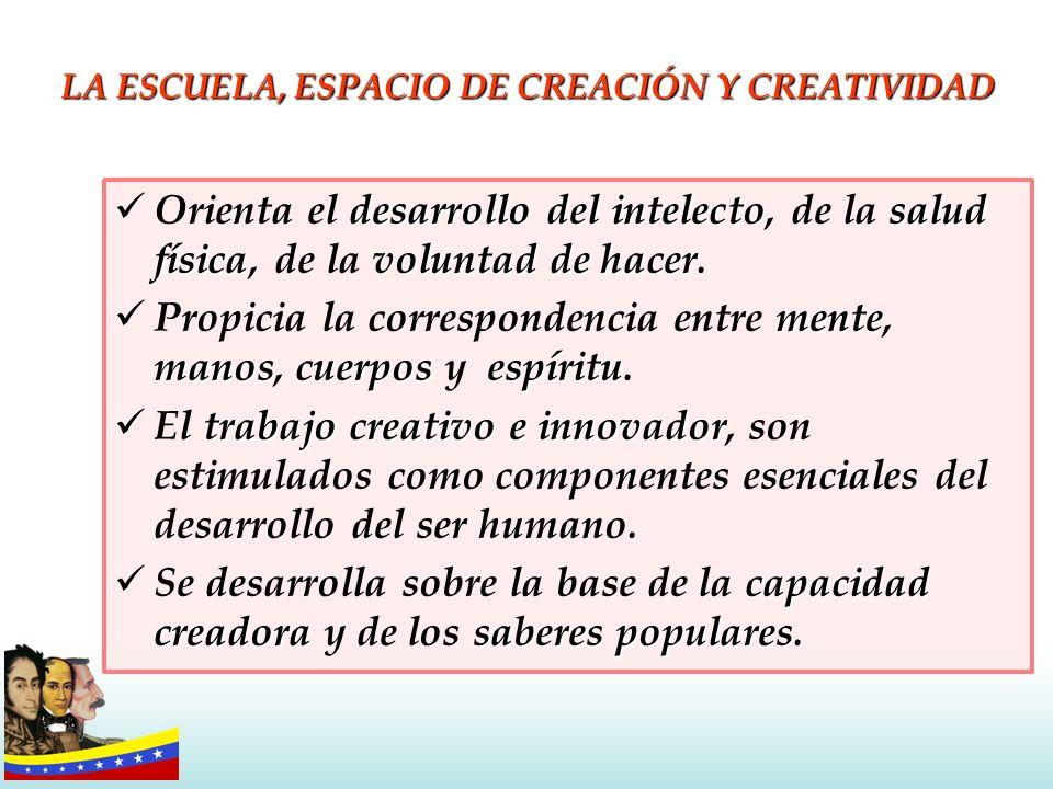 LA ESCUELA, ESPACIO DE CREACIÓN Y CREATIVIDAD
