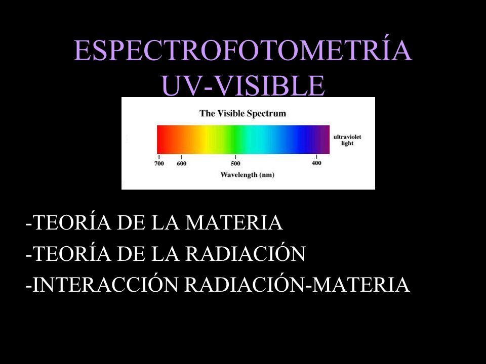 ESPECTROFOTOMETRÍA UV-VISIBLE