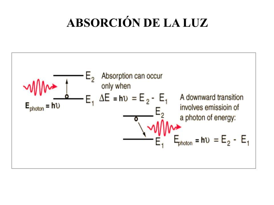 ABSORCIÓN DE LA LUZ